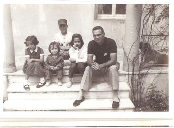 Dad, Wilburn Ray Moss, Sr. and us 4 kids, Athens, Greece 1964-65